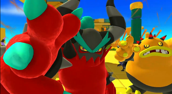 Some of the enemies in Sonic: Lost World. But you'll have to wait an extra week in October to face them!
