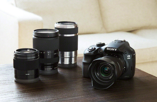 Sony Alpha 3000 camera