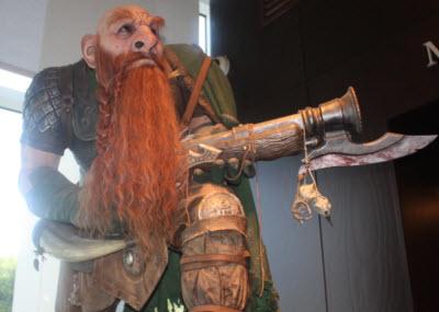 Blizzard lobby statue