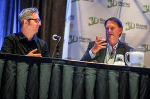 MakerBot CEO Bre Pettis and Stratasys Founder S. Scott Crump speak at Inside 3D Printing Chicago.