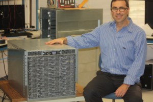 Andrew Feldman with original SeaMicro box