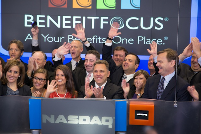 BenefitFocus popped more than 80% on first day trading