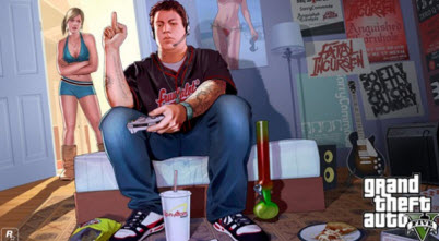 Grand Theft Auto V middle finger