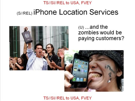 iphone users zombies NSA