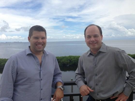 Jon Osvald and John Schappert of Shiver Entertainment.