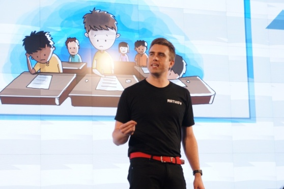 PlayPowerLabs CEO Derek Lomas presenting Mathify