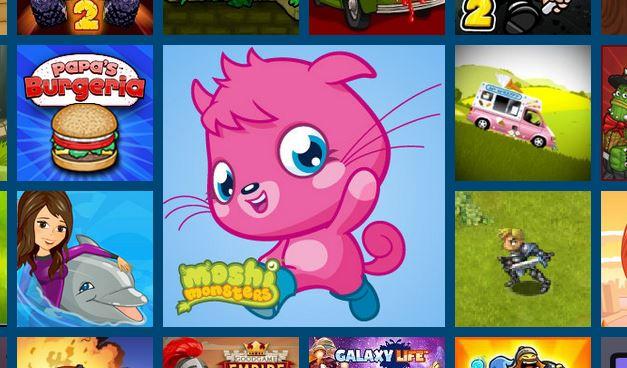 Moshi Monsters affiliate ad on Kizi.com.