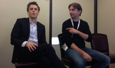 Aaron Levie and Sam Schillace (right), who is often credited as the inventor of Google Docs