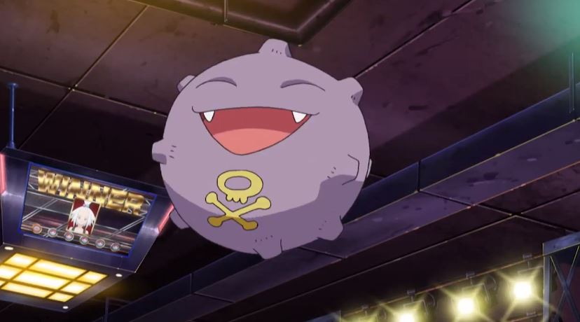 A happy Koffing from Pokémon.