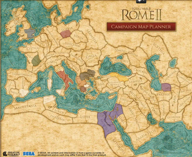Total War: Rome II campaign map