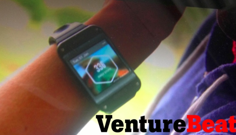 Samsung Galaxy Gear smartwatch, as seen in an early marketing video.