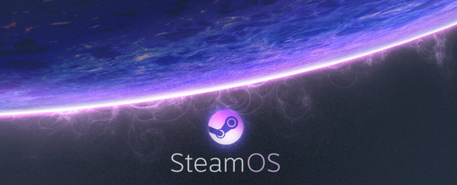 "Valve's SteamOS logo. It's coming to your living rooms ""soon."""