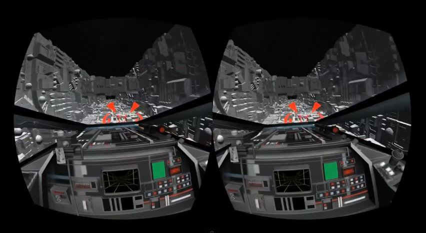 """The Death Star trench run from """"Star Wars"""" re-created for the Oculus Rift VR headset."""