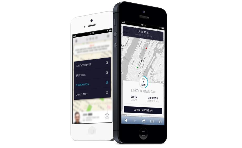 Uber's upcoming ETA feature.