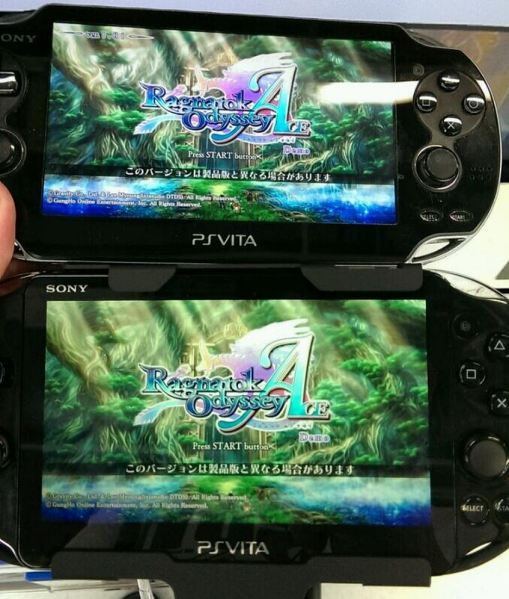 The original Vita is on the top. Vita 2000 is on the bottom.