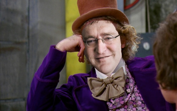 Valve's Gabe Newell as Willy Wonka