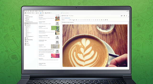 A screenshot showing Evernote 5 for Windows.