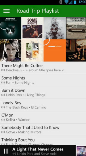 Xbox Music mobile