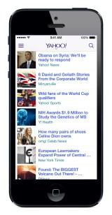 Yahoo iOS 7 app