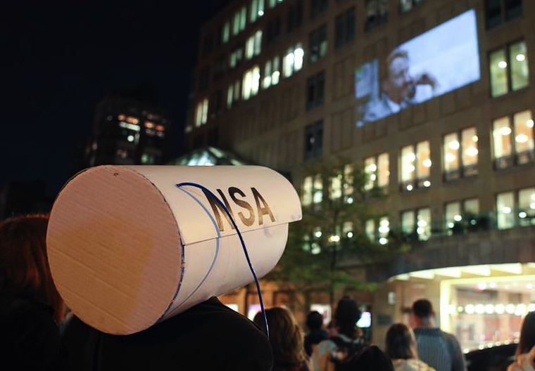 An anti-NSA PRISM rally in NYC