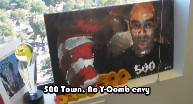 500 Startup painting