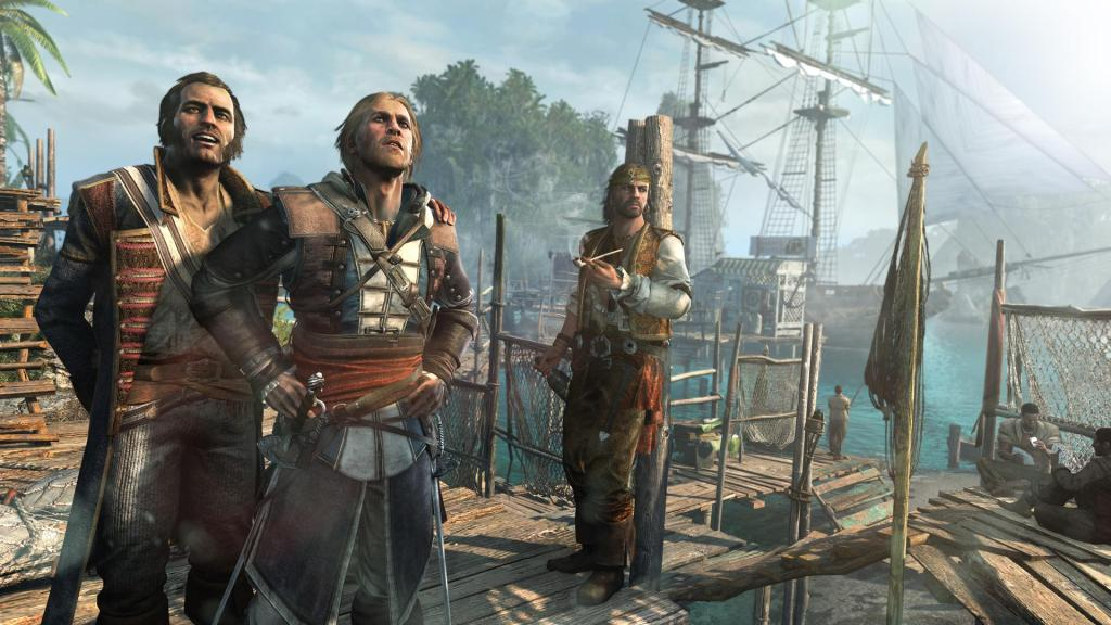 Captain Kenway on deck