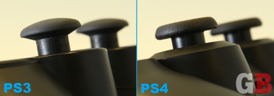 DualShock 4 vs. DualShock 3 - analog stick heights