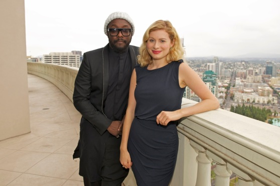 VentureBeat reporter Christina Farr photographed with Will.i.am at the Grand Hyatt, San Diego