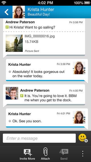 BBM on iPhone