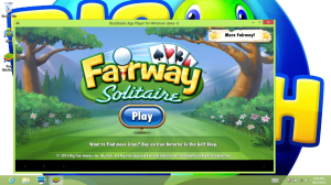 Fairway Solitaire on Big Fish Games' PC app.