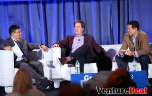 Dean Takahashi, Bing Gordon, and Tim Chang