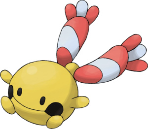 Chingling...the bell Pokémon. I wish he'd evolve into a tambourine.