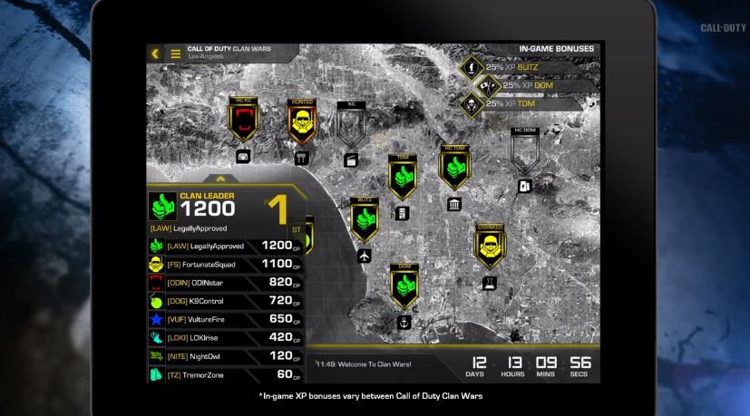 How clans will connect Call of Duty: Ghosts players across