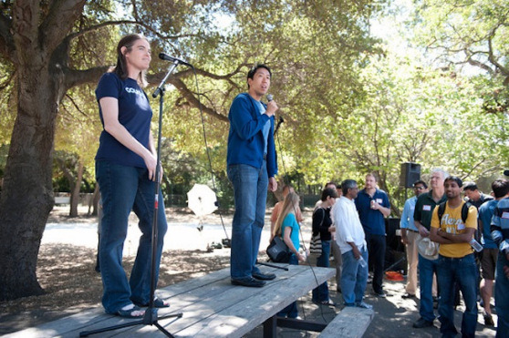 Coursera founders Andrew Ng and Daphne Koller