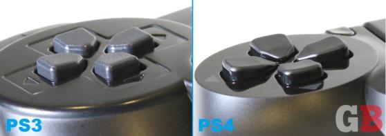 DualShock 3 vs. DualShock 4 - D-pad