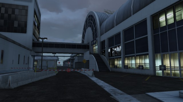 Entrance to the airport