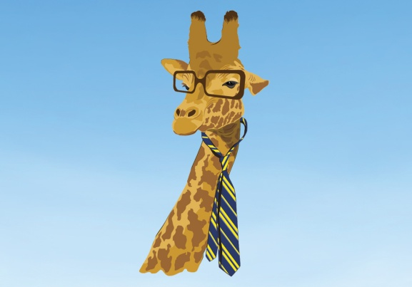This giraffe means business