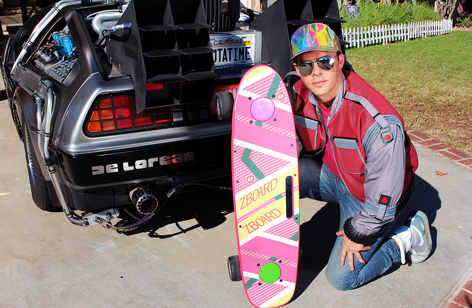 If you've got a hoverboard, you're surely going to want a DeLorean to go with it.