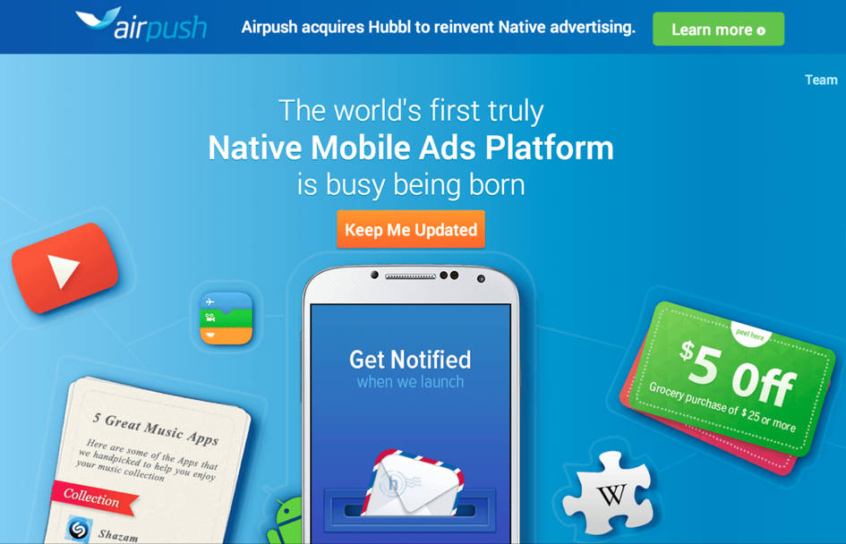 Airpush has a bold new plan for native mobile ads (but won't