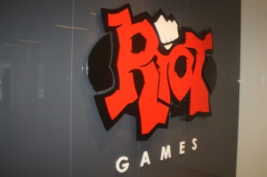 Riot Games lobby sign
