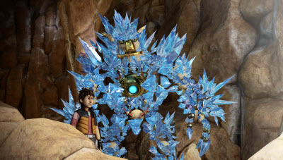 Knack with icicles