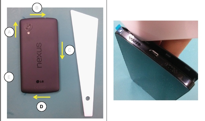 A glimpse at the Nexus 5 from a leaked service manual