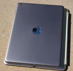 Just a bit smaller than an iPad 4