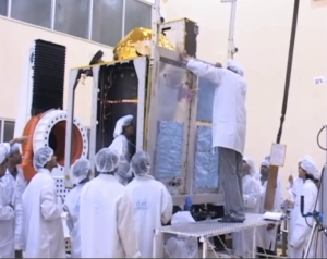 Engineers building the spacecraft