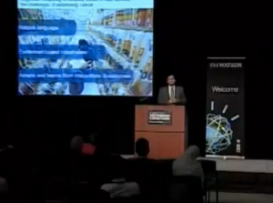 Manoj Saxena, general manager of IBM Watson Solutions, speaking at a press conference today