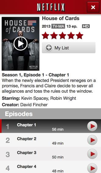 New Netflix app for iOS 7
