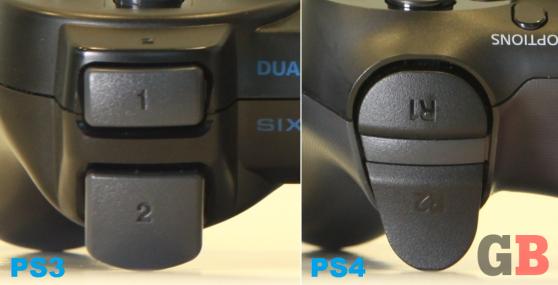 DualShock 3 vs. DualShock 4 - shoulder button icons