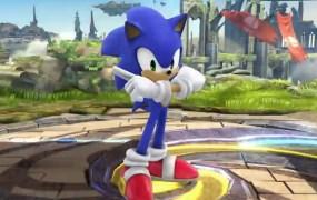 Sonic in Smash Bros.