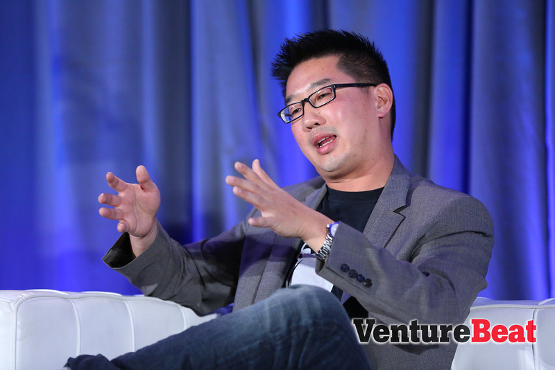 Kevin Chou, the CEO of social game company Kabam, during his chat at GamesBeat 2013.