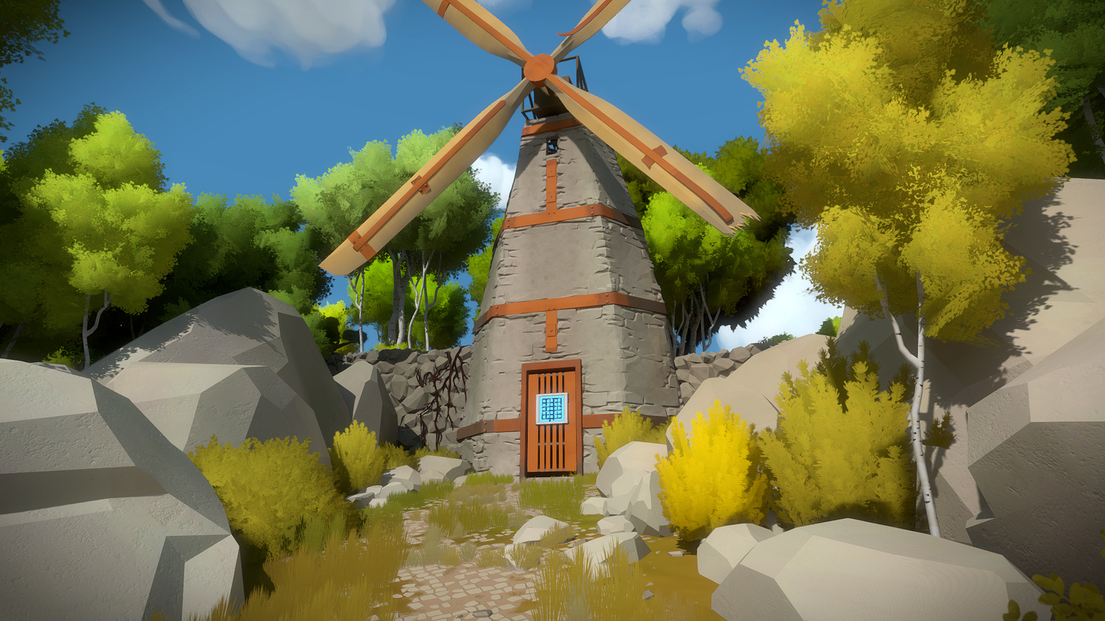 The Witness has a beautiful world that may play into solving some of the line puzzles.